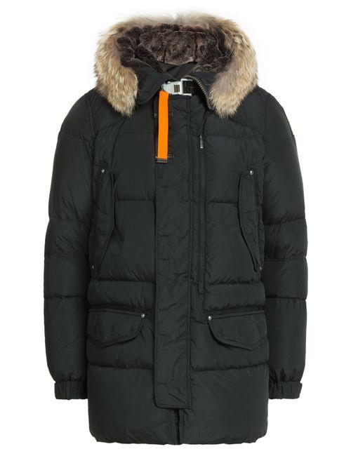 Parajumpers | Мужское Чёрный Down Jacket With Fur Trimmed Hood Gr.