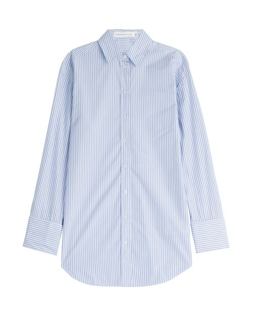 Victoria Beckham Denim | Женское Синий Pinstriped Cotton Shirt Gr. Uk 8