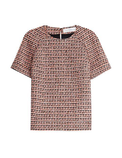 Victoria Beckham Denim | Женское Многоцветный Tweed Top Gr. Uk 8