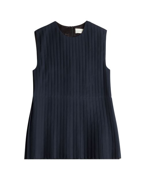 Victoria Beckham Denim | Женское Синий Pleated Top Gr. Uk 12