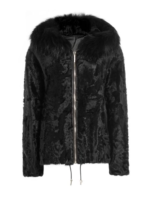 Yves Salomon | Чёрный Shearling And Fox Fur Jacket Gr. 36