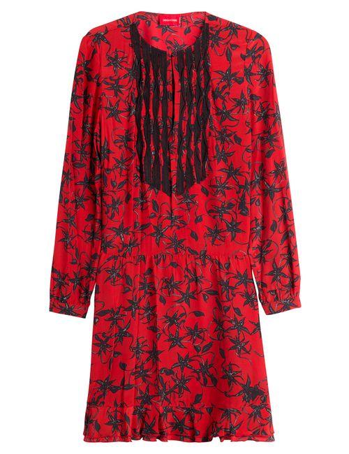 Zadig & Voltaire   Женское Красный Printed Silk Dress Gr. Xs