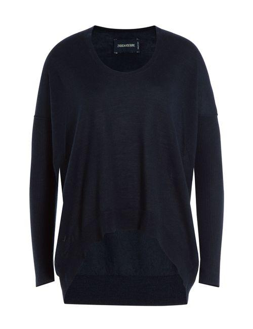 Zadig & Voltaire | Женское Синий Merino Wool Pullover Gr. Xs