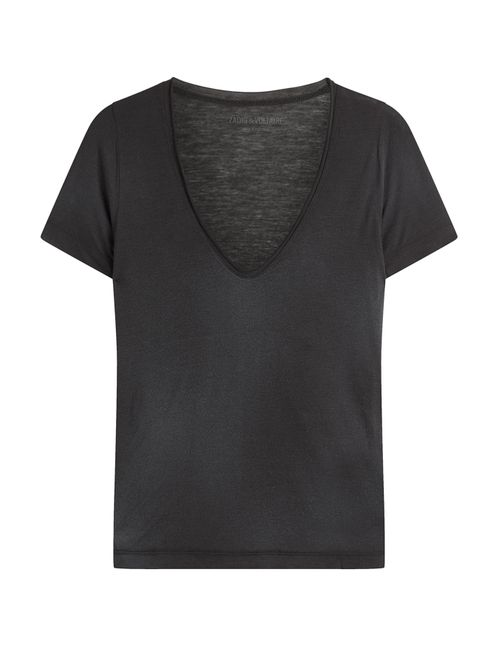 Zadig & Voltaire | Женское Чёрный Jersey T-Shirt With Cashmere Gr. Xs