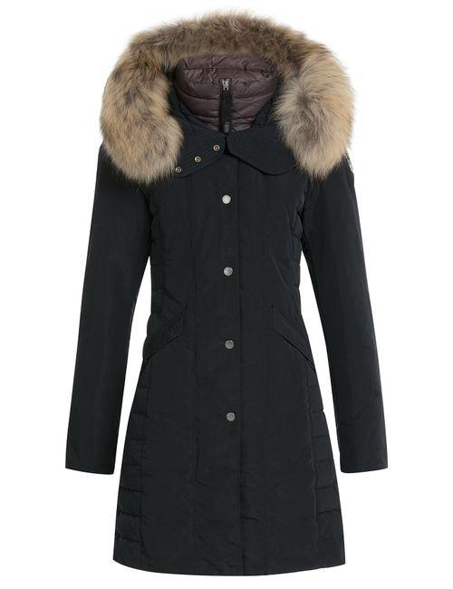 Parajumpers | Женское Чёрный Down Parka With Fur-Trimmed Hood Gr. S