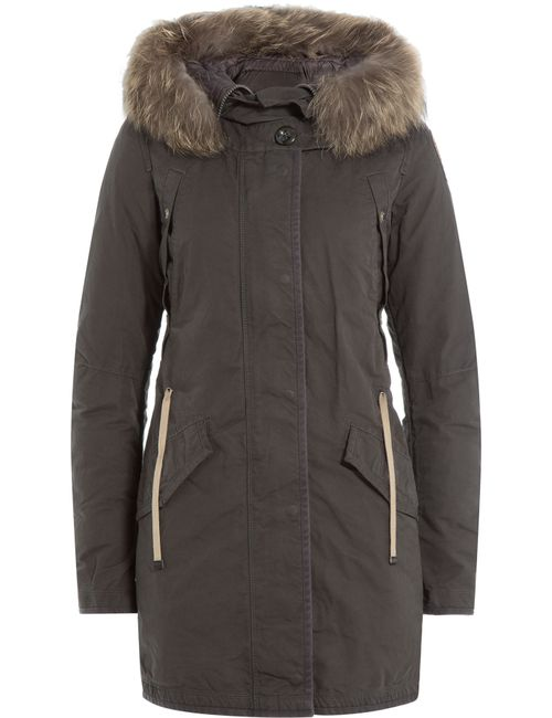 Parajumpers | Женское Зелёный Down Parka With Fur-Trimmed Hood Gr. S