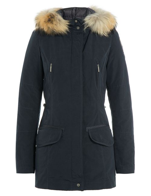 Parajumpers | Женское Синий Down Parka With Fur-Trimmed Hood Gr. S