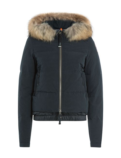 Parajumpers | Женское Синий Down Bomber Jacket With Fur-Trimmed Hood Gr.