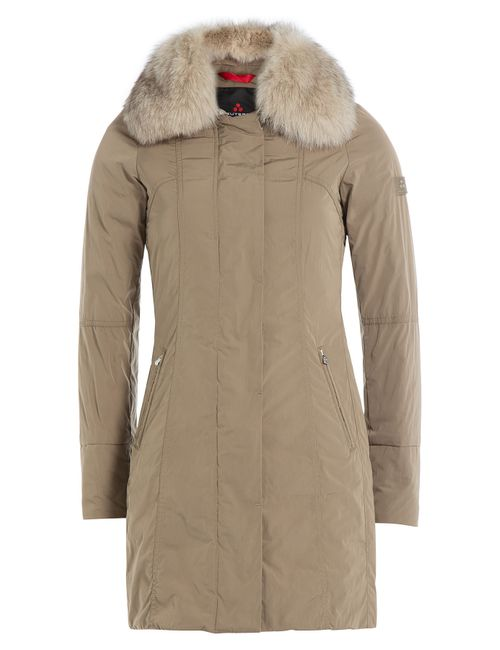 Peuterey | Женское Бежевый Down Parka With Fur Trimmed Hood Gr.