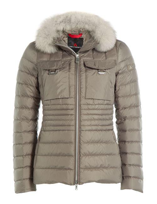 Peuterey | Женское Бежевый Banail Mrq Down Jacket With Fox Fur