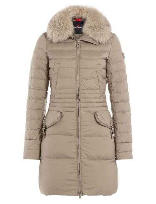Peuterey | Женское Бежевый Ryan Ks Down Coat With Fox Fur