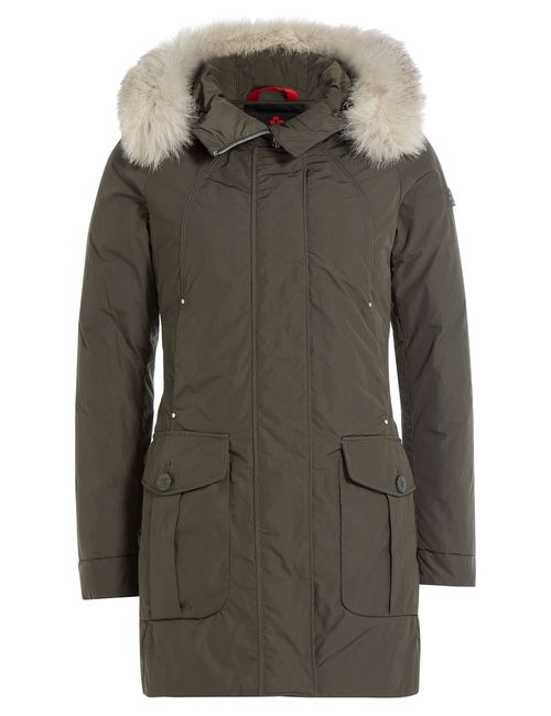 Peuterey | Женское Зелёный Regina Down Jacket With Fur Trimmed Hood