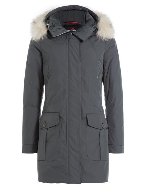Peuterey | Женское Серый Regina Down Jacket With Fur Trimmed Hood