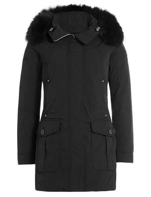 Peuterey | Женское Чёрный Regina Down Jacket With Fur Trimmed Hood