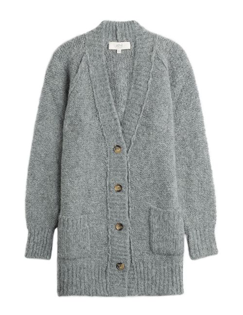 Vanessa Bruno Athe' | Женское Серый Cardigan With Alpaca And Merino Wool Gr.