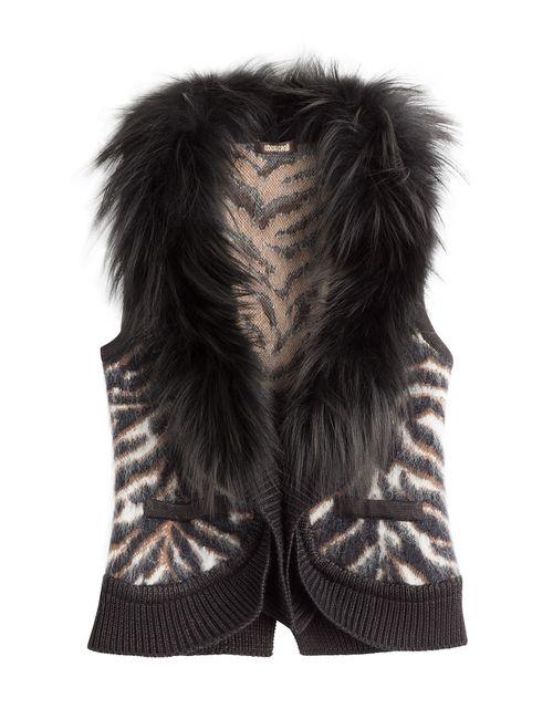 Roberto Cavalli | Женское Коричневый Vest With Wool Mohair Silk And Fox