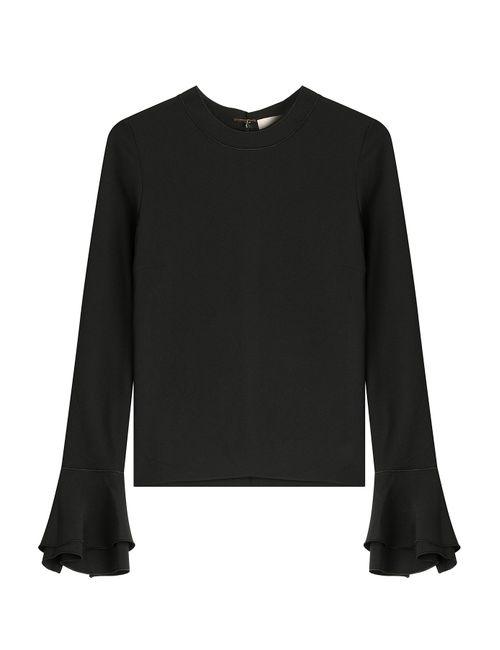 ROKSANDA | Женское Чёрный Silk Top With Ruffled Sleeves Gr. Uk