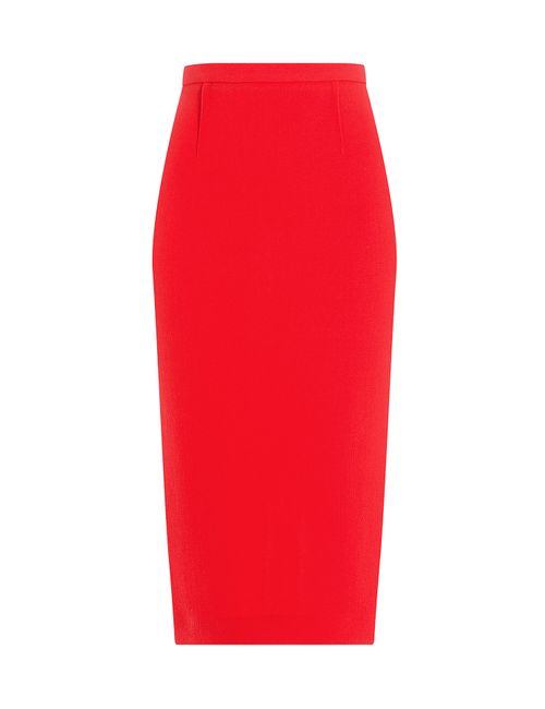 Roland Mouret | Женское Красный Wool Crepe Pencil Skirt Gr. Uk 10