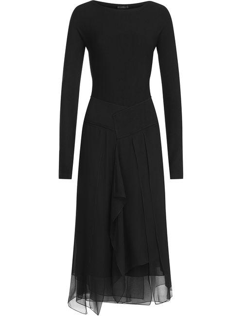 Donna Karan New York | Женское Чёрный Dress With Chiffon Gr. M