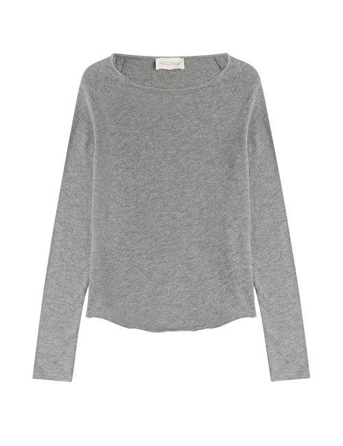 American Vintage | Женское Серый Cotton Top Gr. S