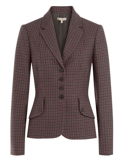 Michael Kors Collection | Женское Красный Virgin Wool Plaid Blazer Gr. Us 8