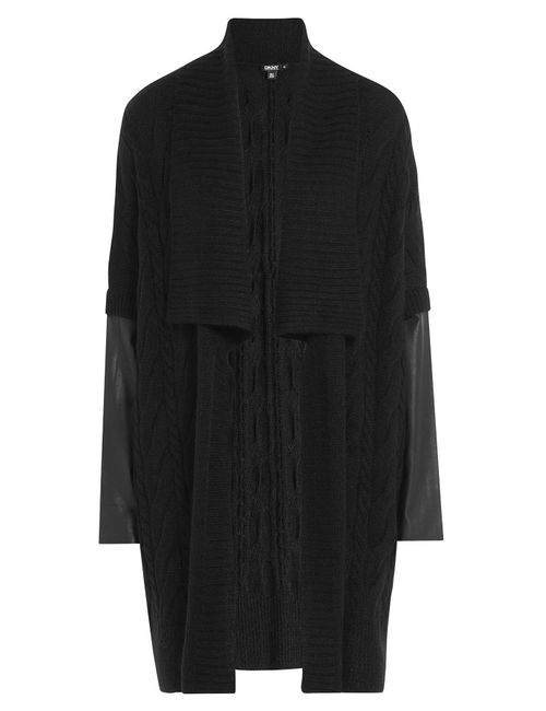 DKNY | Женское Чёрный Cardigan With Alpaca Mohair And Leather Gr.