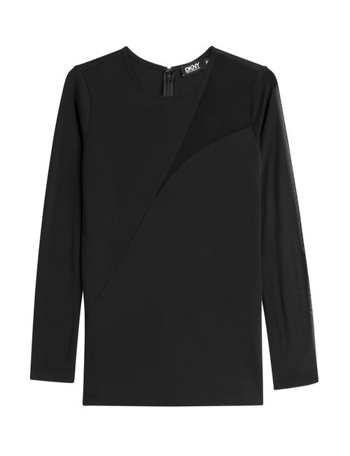 DKNY | Женское Чёрный Top With Sheer Insert Gr. M