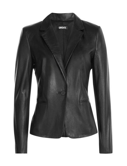 DKNY | Женское Черный Leather Blazer Gr. Xs