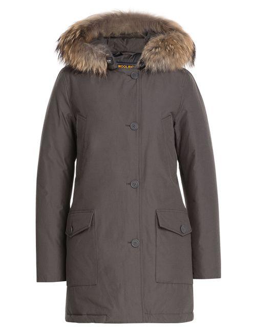 Woolrich | Женское Серый Parka With Fur-Trimmed Hood Gr. Xs