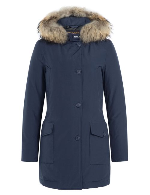 Woolrich | Женское Синий Arctic Down Parka With Fur-Trimmed Hood Gr.
