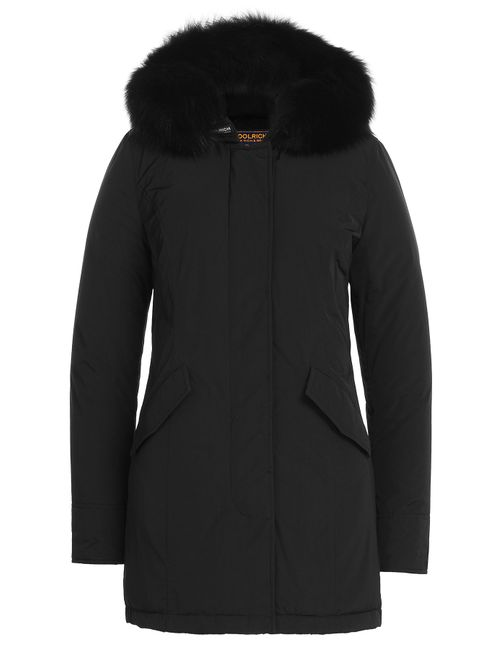 Woolrich | Женское Чёрный Luxury Fox Arctic Parka With Fur-Trimmed Hood
