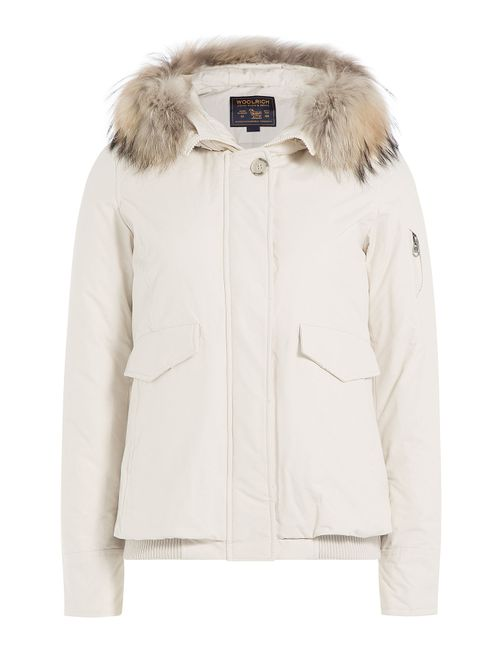 Woolrich | Женское Белый Campton Down Jacket With Fur-Trimmed Hood Gr.