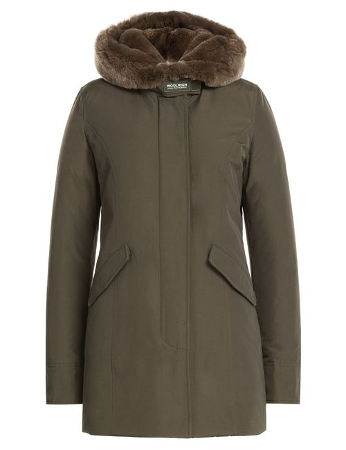 Woolrich | Женское Зелёный Beaker Parka With Fur-Trimmed Collar Gr. Xs