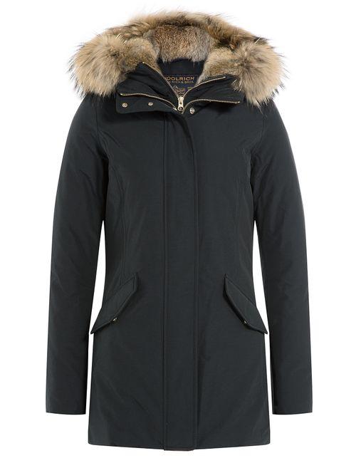 Woolrich | Женское Чёрный Ws Valentine Down Parka With Fur-Trimmed Hood