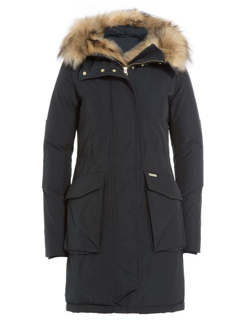 Woolrich | Женское Синий Military Eskimo Down Parka With Fur-Trimmed Hood