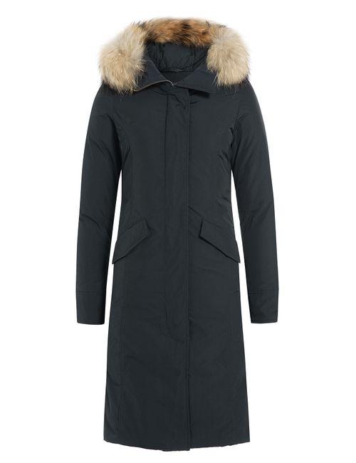 Woolrich | Женское Синий Luxury Long Down Parka Gr. Xs