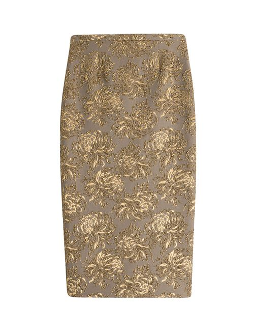 Rochas | Женское Золотой Floral Jacquard Pencil Skirt Gr. 38