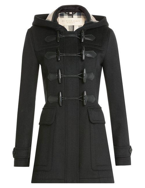 Burberry Brit | Черный Wool Duffle Coat Gr. 4