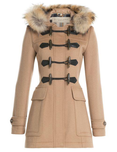 Burberry Brit | Коричневый Wool Duffle Coat With Fur Gr. 4