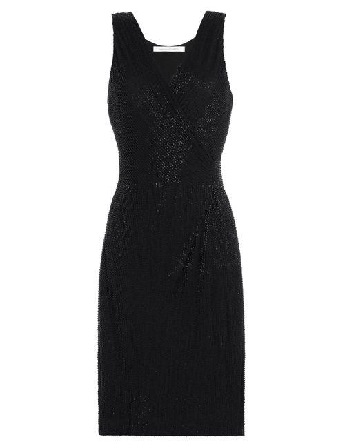 Diane Von Furstenberg | Женское Черный Embellished Silk Dress Gr. Us 6