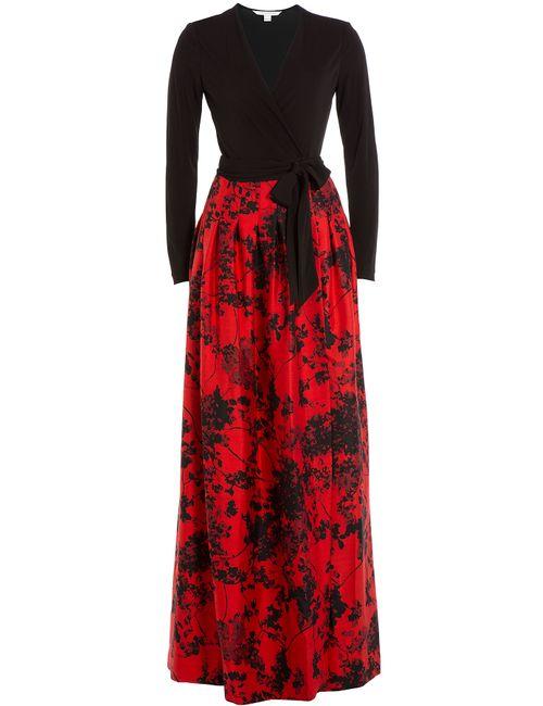 Diane Von Furstenberg   Женское Многоцветный Wool-Silk Dress With Maxi Skirt Gr. Us