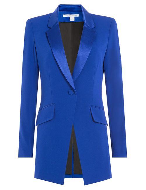 Diane Von Furstenberg | Женское Синий Crepe Blazer Gr. 2