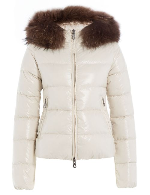Duvetica | Женское Белый Down Jacket With Fur-Trimmed Hood Gr. It