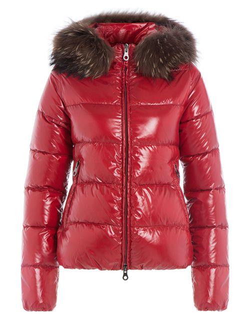 Duvetica | Женское Красный Down Jacket With Fur-Trimmed Hood Gr. 38