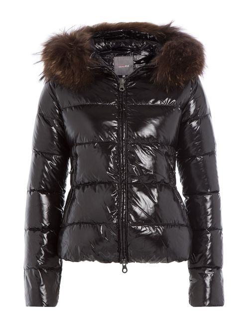 Duvetica | Женское Чёрный Down Jacket With Fur-Trimmed Hood Gr. It