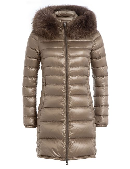Duvetica | Женское Золотой Down Jacket With Fur-Trimmed Hood Gr. It