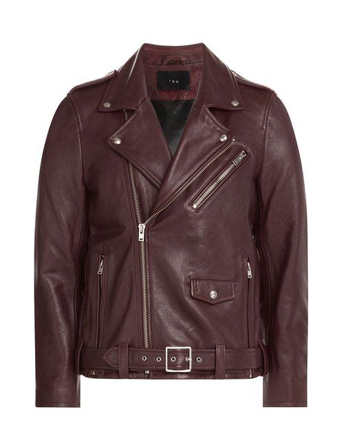 Iro | Мужское Красный Leather Biker Jacket Gr. M
