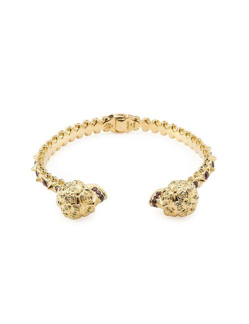Alexander McQueen | Женское Золотой Embellished Hinge Bracelet Gr. One Size