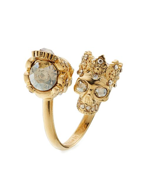 Alexander McQueen | Женское Золотой Embellished Ring Gr. 11