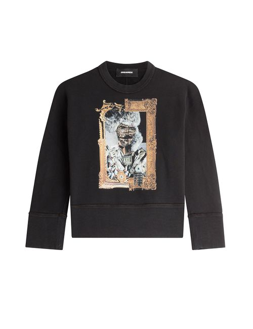 Dsquared2 | Женское Чёрный Printed Sweatshirt Gr. Xs